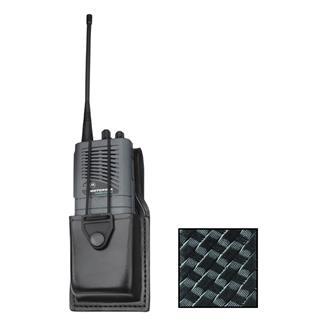 Gould & Goodrich K-Force Universal Swivel Radio Case Basket Weave Black