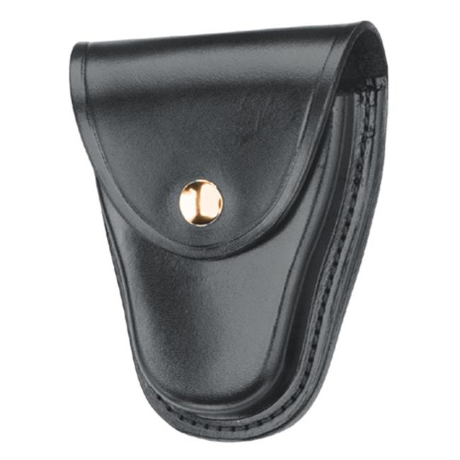 Gould & Goodrich Chain Handcuff Case with Brass Hardware Plain Black