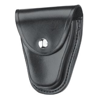 Gould & Goodrich Hinged Handcuff Case with Nickel Hardware Plain Black