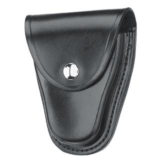 Gould & Goodrich K-Force Hinged Handcuff Case with Nickel Hardware Plain Black