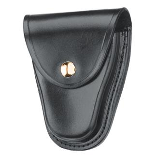 Gould & Goodrich Hinged Handcuff Case with Brass Hardware Plain Black