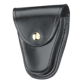Gould & Goodrich K-Force Hinged Handcuff Case with Brass Hardware Plain Black