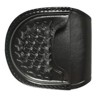 Gould & Goodrich Open Handcuff Case Basket Weave Black