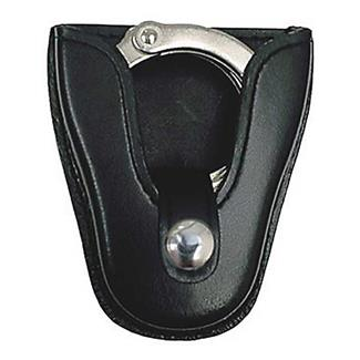 Gould & Goodrich K-Force Open Top Handcuff Case with Nickel Hardware Plain Black