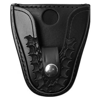 Gould & Goodrich K-Force Open Top Handcuff Case with Nickel Hardware Basket Weave Black