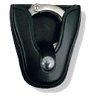 Gould & Goodrich K-Force Open Top Handcuff Case with Brass Hardware Black Plain