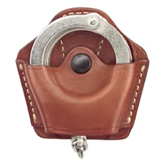 Gould & Goodrich Compact Handcuff Case Plain Chestnut Brown