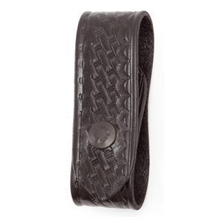 Gould & Goodrich Handcuff Strap Basket Weave Black