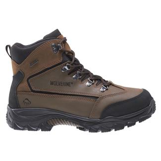"Wolverine 5"" Spencer Mid-Cut Hiker WP Black/ Brown"