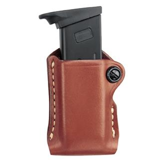 Gould & Goodrich Compact Mag Case Chestnut Brown