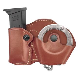 Gould & Goodrich Cuff and Mag Case with Belt Loop Chestnut Brown