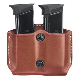 Gould & Goodrich Double Mag Case with Belt Loop Chestnut Brown