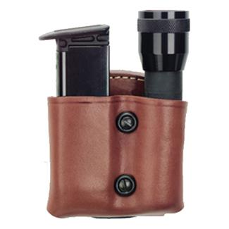 Gould & Goodrich Flashlight and Mag Combo Case Chestnut Brown
