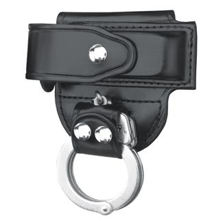 Gould & Goodrich Mag Case/ Cuff Holder with Nickel Hardware Black Plain