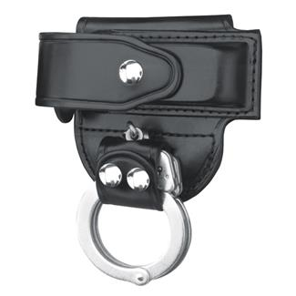 Gould & Goodrich Mag Case/ Cuff Holder with Nickel Hardware Black Hi-Gloss