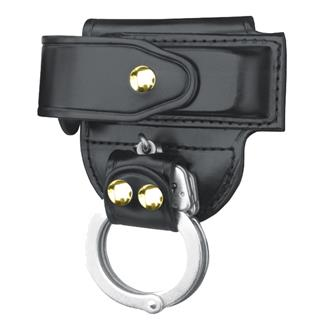 Gould & Goodrich Mag Case/ Cuff Holder with Brass Hardware Black Plain