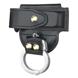 Gould & Goodrich Mag Case/ Cuff Holder with Brass Hardware Black Hi-Gloss