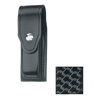 Gould & Goodrich Single Mag Case with Nickel Hardware Basket Weave Black