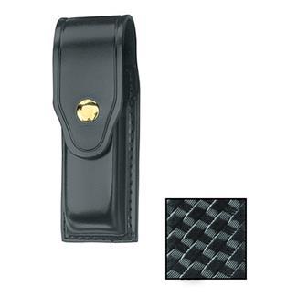 Gould & Goodrich Single Mag Case with Brass Hardware Basket Weave Black