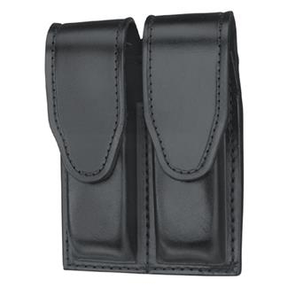 Gould & Goodrich Double Mag Case with Hidden Snap Plain Black