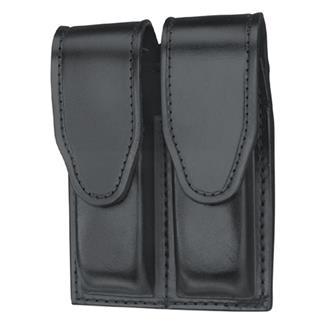 Gould & Goodrich Double Mag Case with Hidden Snap Plain Black