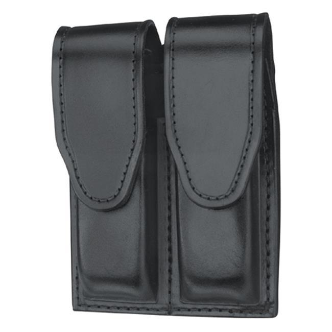 Gould & Goodrich Double Mag Case with Hidden Snap Black Hi-Gloss