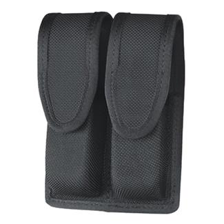 Gould & Goodrich Ballistic Nylon Double Mag Case with Hidden Snap Black