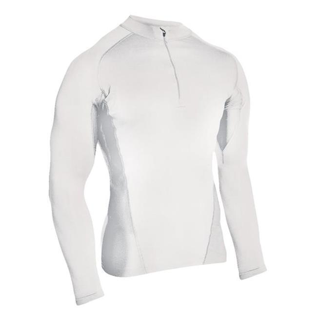 Blackhawk Engineered Fit LS 1/4 Zip Shirts White