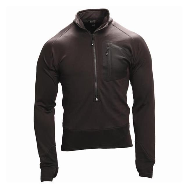 Blackhawk 3/4 Zip Soft fleece Pullover Black