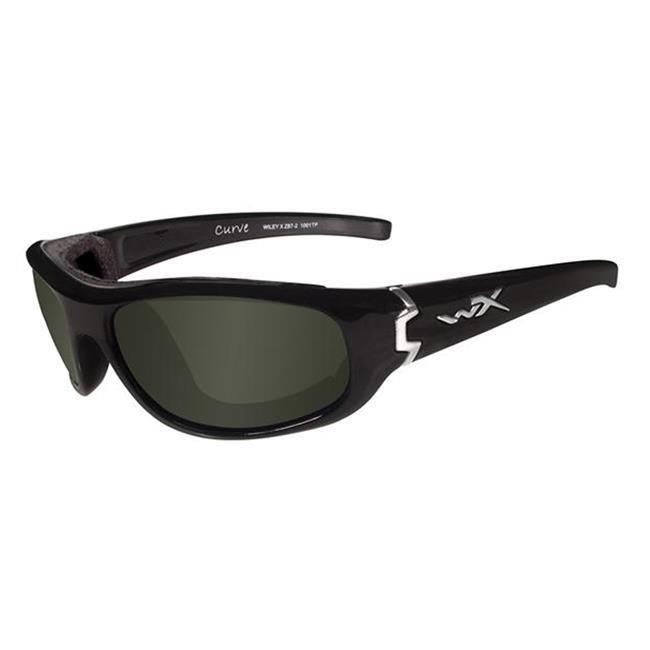 Wiley X Curve Gloss Black Polarized Smoke Green