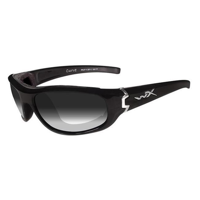 Wiley X Curve Gloss Black Light Adjusting Smoke Gray