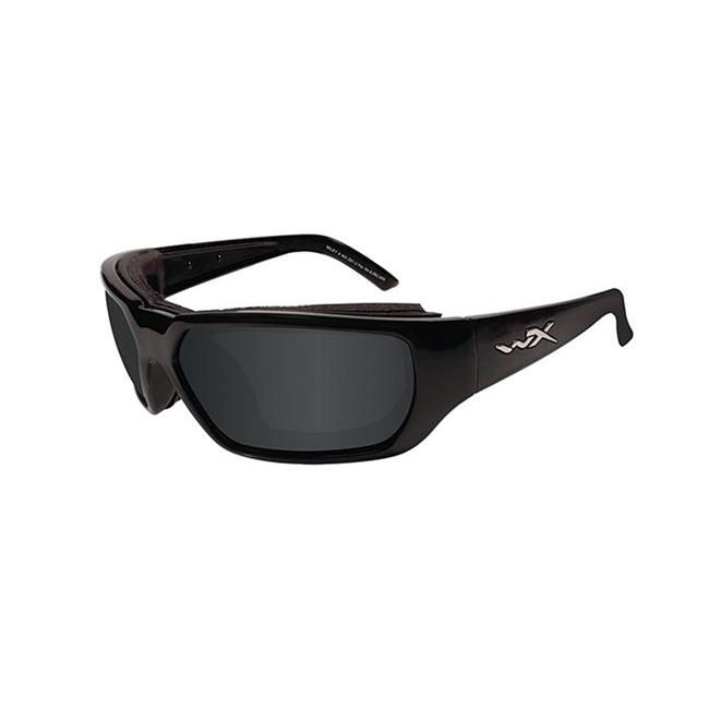 Wiley X Rout Gloss Black Smoke Gray