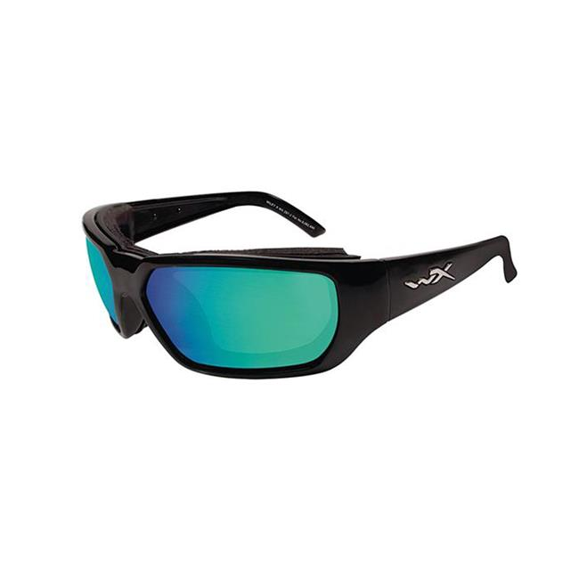Wiley X Rout Polarized Emerald Mirror Gloss Black