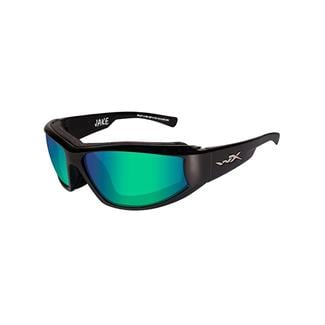 Wiley X Jake Polarized Emerald Mirror Gloss Black