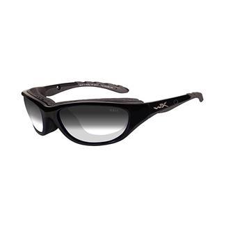 Wiley X AirRage Gloss Black (frame) - Light Adjusting Smoke Gray (lens)