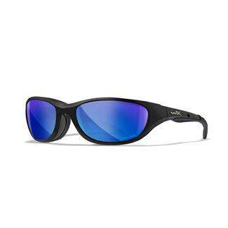 Wiley X AirRage Gloss Black Polarized Blue Mirror