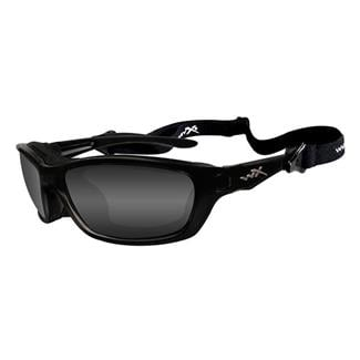 Wiley X Brick Polarized Smoke Gray Gloss Black