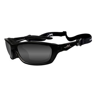 Wiley X Brick Gloss Black Polarized Smoke Gray