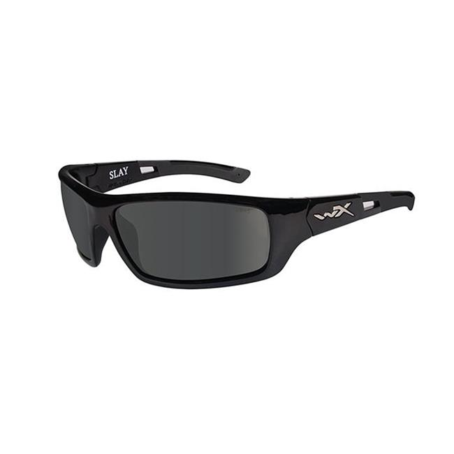 Wiley X Slay Gloss Black Polarized Smoke Gray