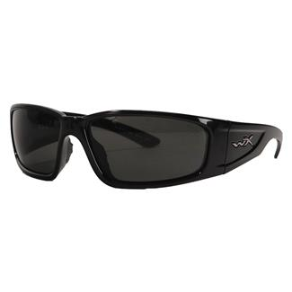 Wiley X Zak Gloss Black Polarized Smoke Gray