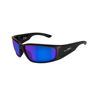 Wiley X Zak Gloss Black Polarized Blue Mirror