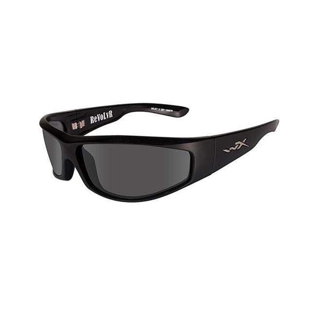 Wiley X Revolvr Gloss Black Smoke Gray