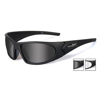 Wiley X Romer 3 Smoke Gray / Clear Matte Black 2 Lenses