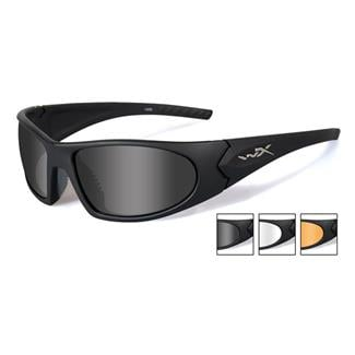 Wiley X Romer 3 Matte Black (frame) - Smoke Gray / Clear / Light Rust (3 Lenses)