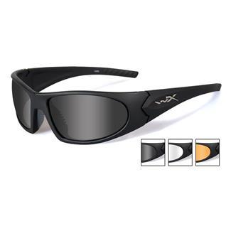 Wiley X Romer 3 Matte Black (frame) - Smoke Gray / Clear / Light Rust (3 Lenses)