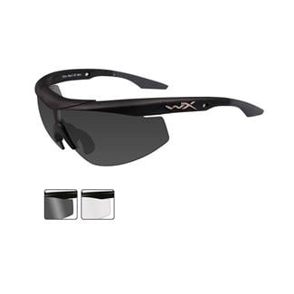 Wiley X WX Talon Smoke Gray / Clear 2 Lenses Matte Black