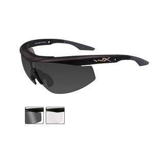 Wiley X WX Talon Matte Black Smoke Gray / Clear 2 Lenses