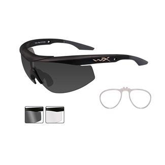 Wiley X WX Talon Matte Black (frame) - Smoke Gray / Clear (2 Lenses w/ RX Insert)
