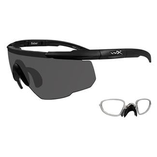 Wiley X Saber Advanced 1 Lens w/ RX Insert Matte Black Smoke Gray