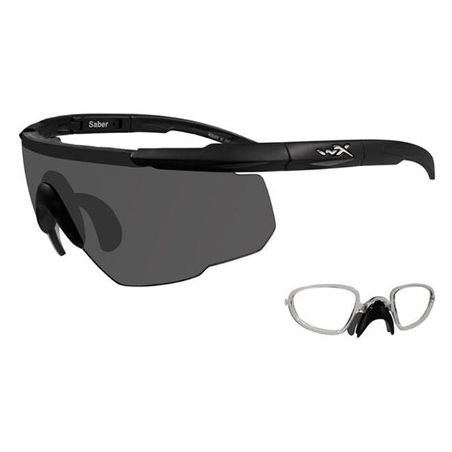Wiley X Saber Advanced Matte Black 1 Lens w/ RX Insert Smoke Gray